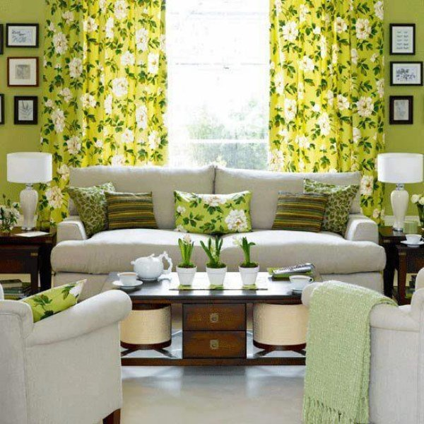 Select The Right Living Room Curtains Flowers